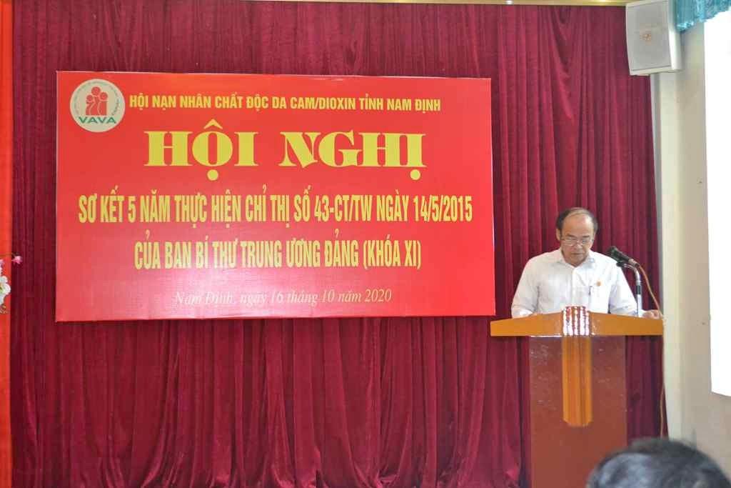 Ông Phạm Tuấn Bảo – Phó C.tịch Tỉnh Hội trình bày báo cáo sơ kết