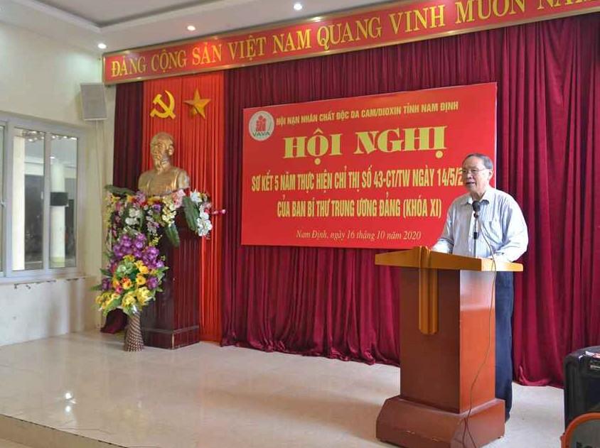Thượng tướng Nguyễn Văn Rinh – Chủ tịch Trung ương Hội phát biểu chỉ đạo